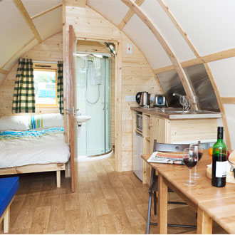 Inside A Glamping Pod In Scotland's Newest Glamping Site