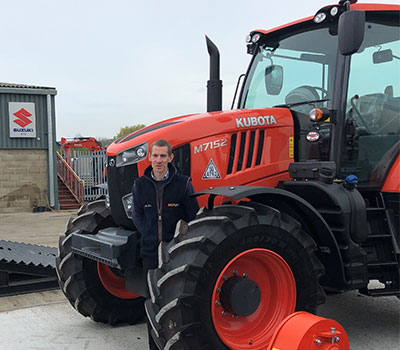Colchester-based HOSPLANT Sales stocks Kubota farm machinery