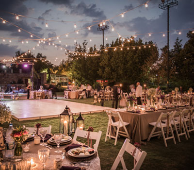 An outdoor wedding - one rural diversification option