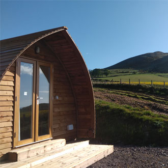 Glamping pod at The Farm Business Innovation Show 2019
