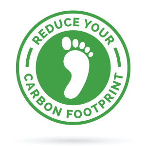 Reduce your Carbon footprint stamp