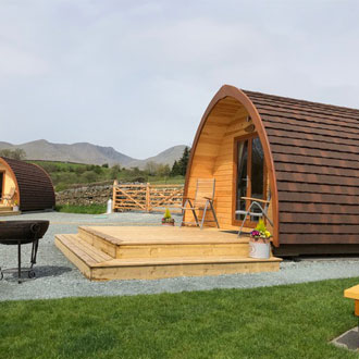 A glamping pod from The Pod Company