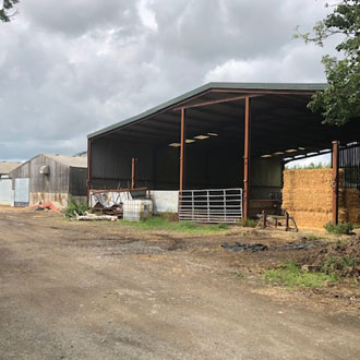 Farm yard up for property auction