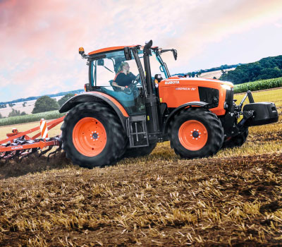 Kubota - tractor on field